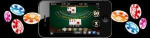 Casino Website | Top Slot Site Casino | online mobile casino game being playedon mobile phone| casino chips