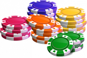 3d pokerchip stacks