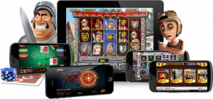 top slots site uk | ipad iphone android phone and a cartoon solder and women displaying mobile casino games