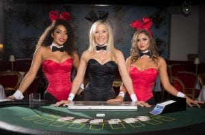 Online Casino Reviews | Slots Ltd | 3 live casino dealers dress up with bunny ears and bow ties