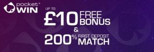 Pocketwin £10 Free Bonus | sllots.co.uk