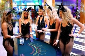 best online casino sites casino girls in bunny outfits standing around blackjack table