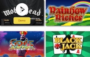 rainbow richers blackjack gene and motorhead slots games