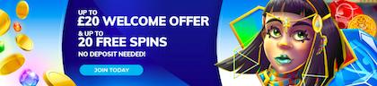 welcome bonus free spins
